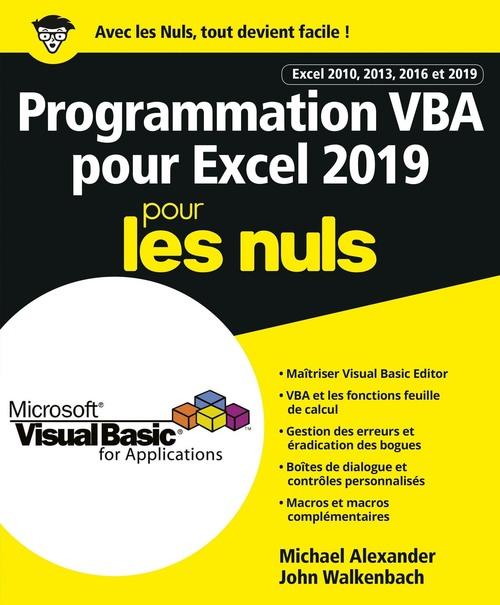 programmation VBA pour Excel pour les nuls (édition 2019)