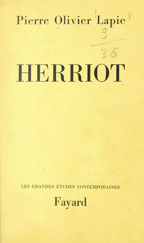 Herriot  - Pierre-Olivier Lapie