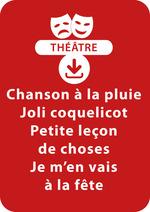 Vente Livre Numérique : Chanson à la pluie ; Joli coquelicot ; Petite leçon de choses ; Je m'en vais à la fête (dès 3 ans)  - Brigitte Saussard