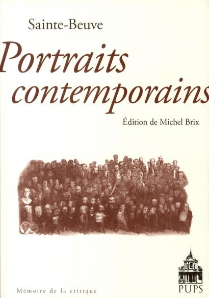 Portraits contemporains, de Sainte Beuve