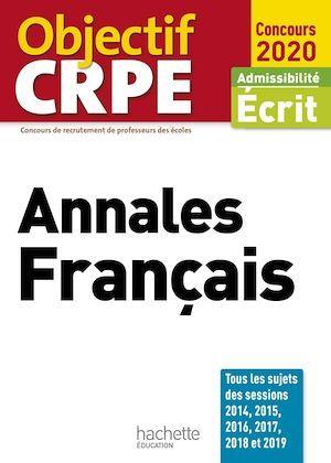 Objectif CRPE  Annales Français 2020