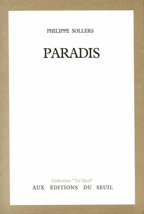 Paradis  - Philippe Sollers