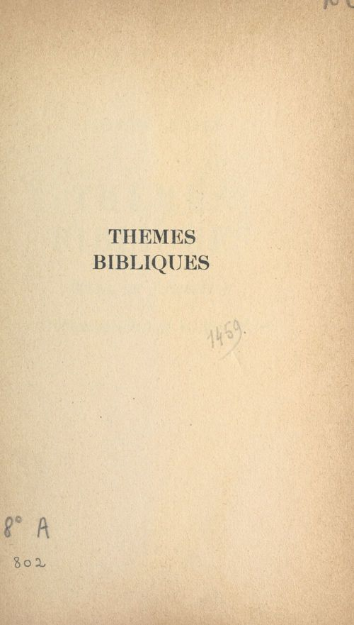Thèmes bibliques
