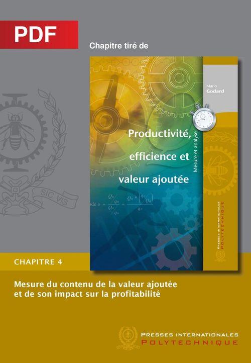 Mesure du contenu de la valeur ajoutée et de son impact sur la profitabilité (chapitre PDF)