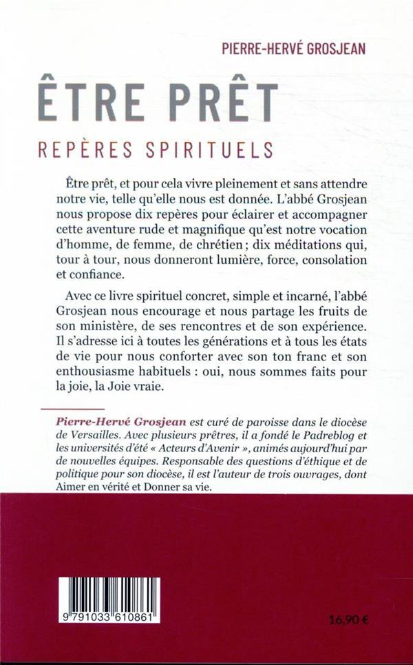 être prêt ; repères spirituels