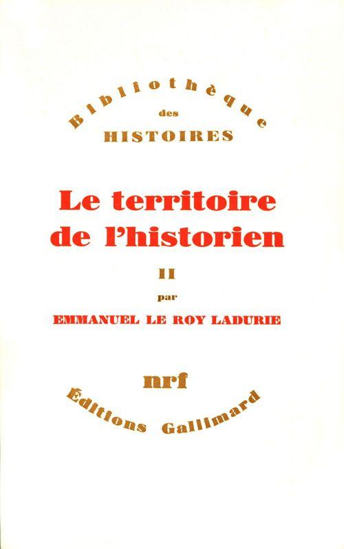 Le territoire de l'historien t.2