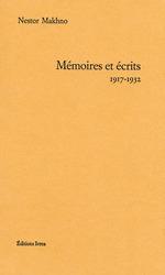 Couverture de Mémoires et écrits (1917-1932)