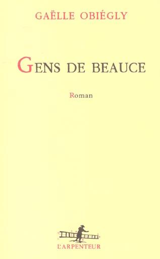 Gens de beauce roman