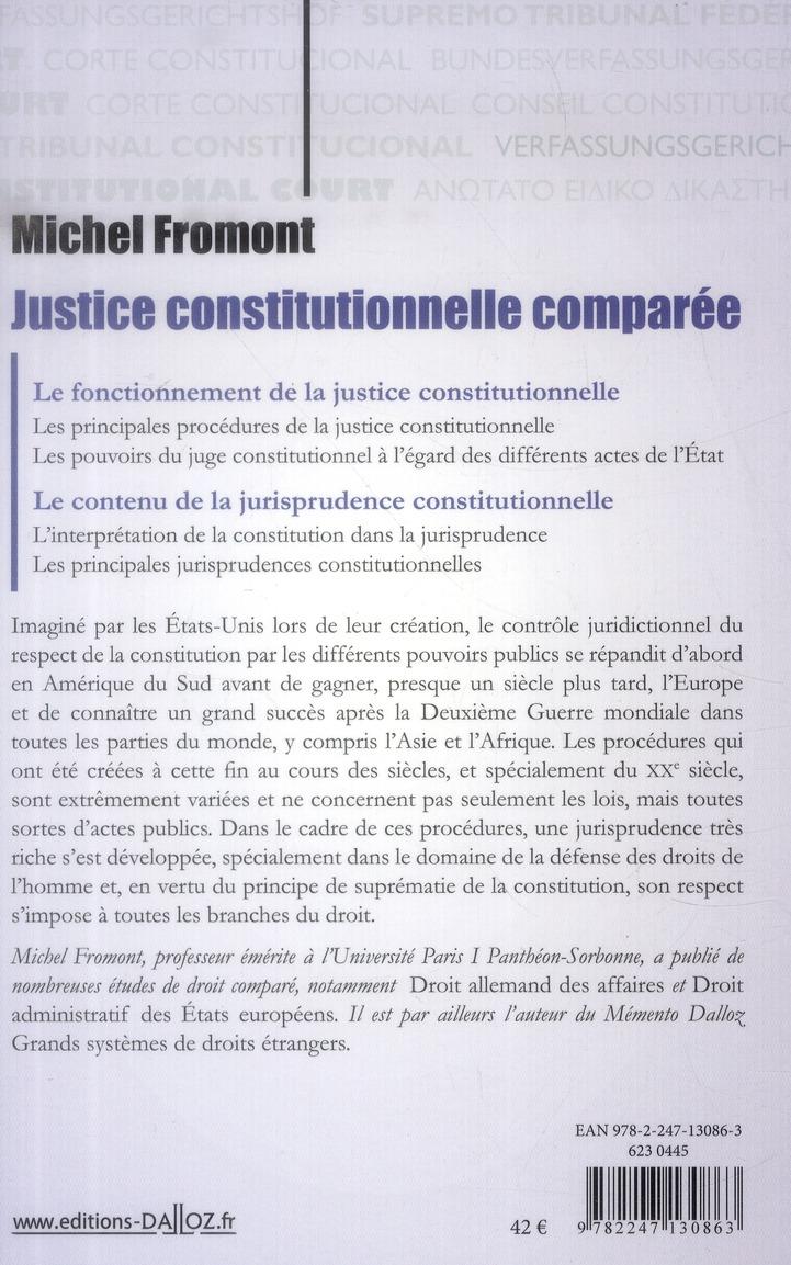 Justice constitutionnelle comparée