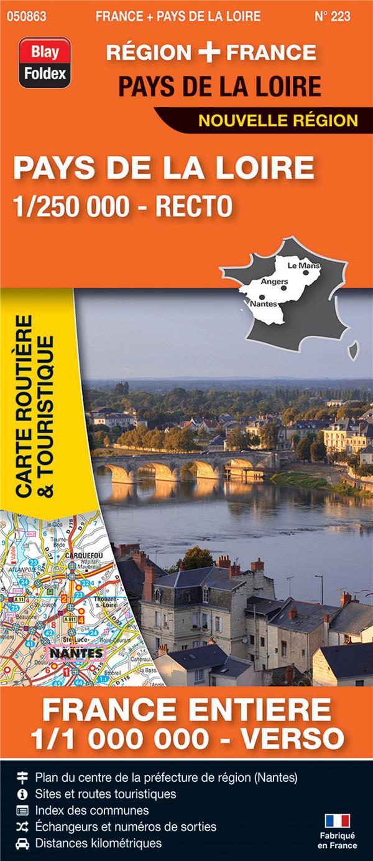 Carte routière & touristique N.223 ; Pays de la loire