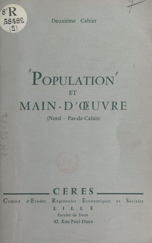 Population et main-d'oeuvre dans les départements du Nord et du Pas-de-Calais