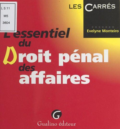 Essentiel dt penal d. affaires