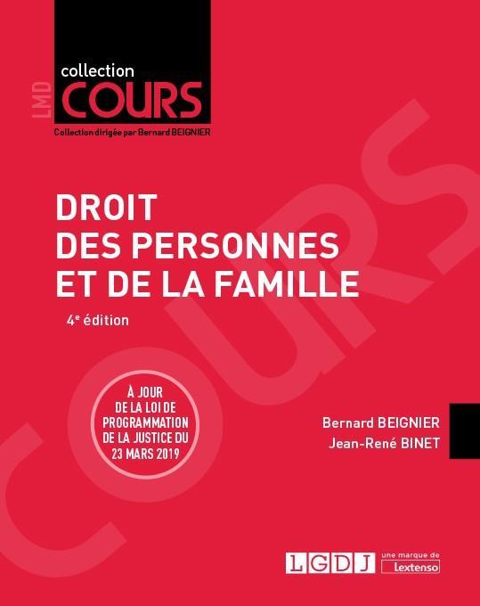 Droit des personnes et de la famille (4e édition)