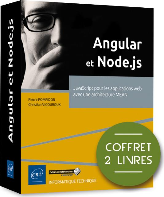 Angular et Node.js ; coffret de 2 livres : JavaScript pour les applications web avec une architecture MEAN