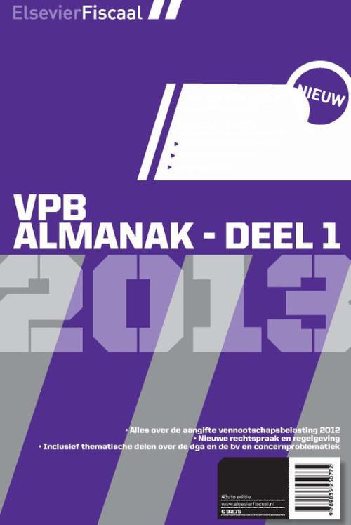 Elsevier vpb almanak - Deel 1 2013
