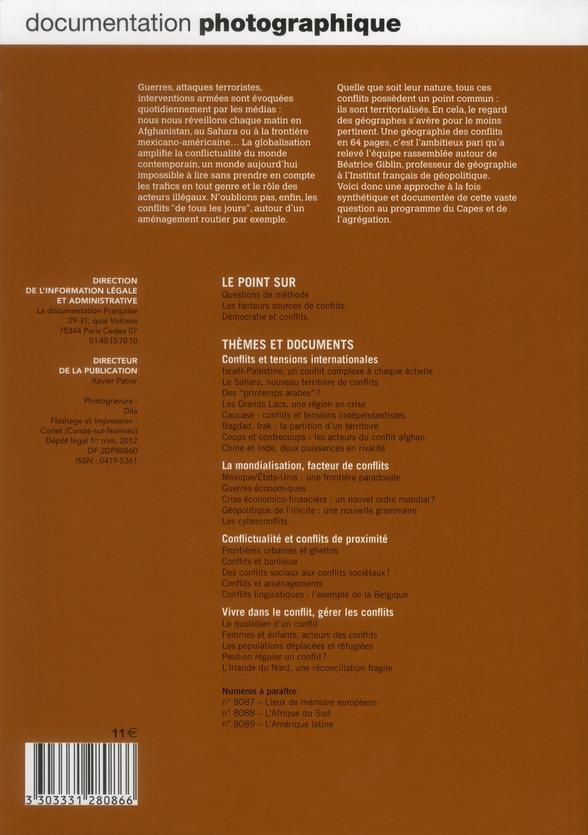 Documentation photographique t.8086; geographie des conflits (dossier n.8086)