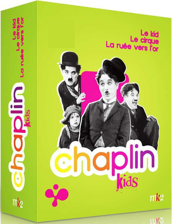 coffret Chaplin kids 3 films : le kid ; la ruée vers l'or ; le cirque