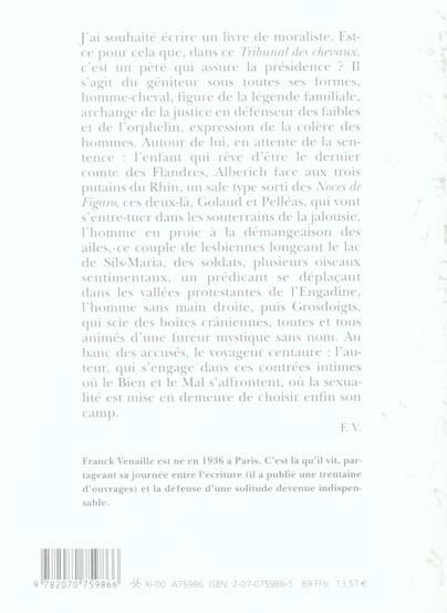 Le tribunal des chevaux - (romanesques)