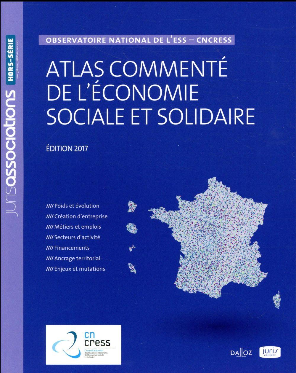 Atlas commenté de l'économie sociale et solidaire ; observatoire national de l'ESS - CnCress - 3