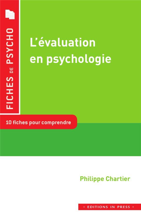 L'EVALUATION EN PSYCHOLOGIE