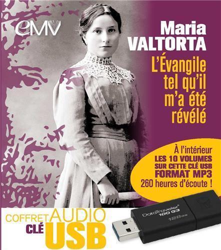 COFFRET AUDIO CLE USB L'EVANGILE TEL QU'IL M'A ETE REVELE DE MARIA VALTORTA