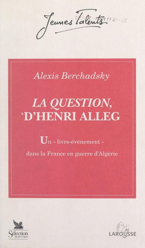 La Question, d'Henri Alleg