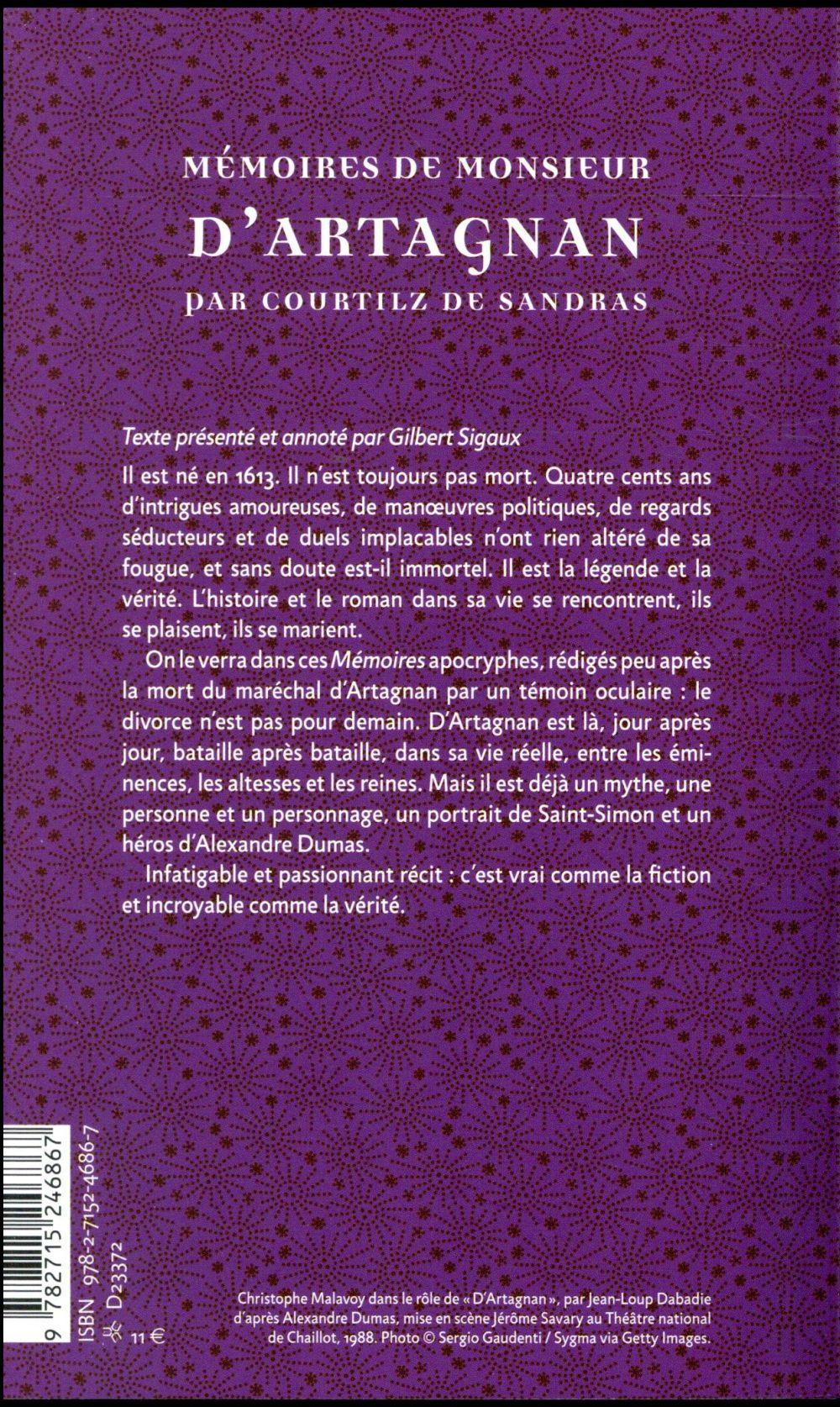 Mémoires de monsieur d'Artagnan