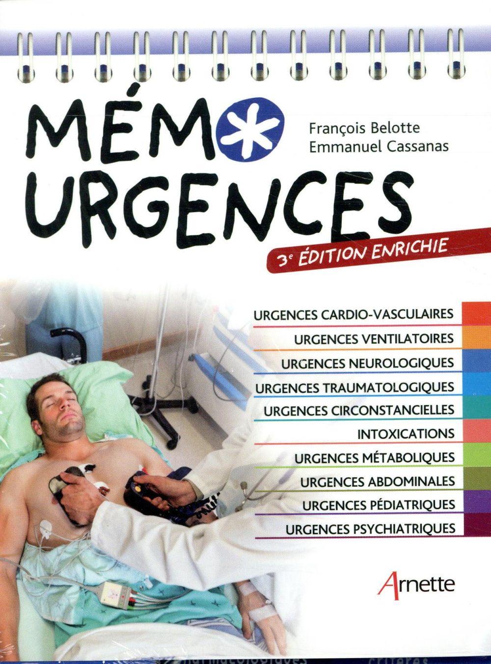 Mémo urgences - Emmanuel Cassanas, François Bellotte - Arnette - Grand  format - Paris Librairies