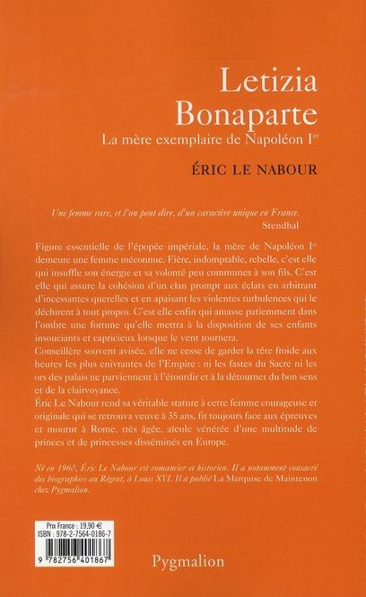 Letizia Bonaparte ; la mère exemplaire de Napoléon Ier