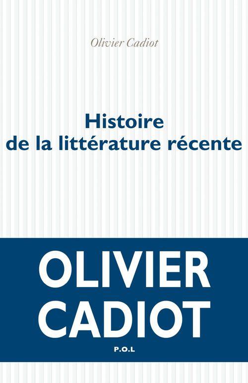 Histoire de la littérature récente t.1