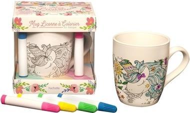 ART-THERAPIE ; coffret mug licorne à colorier