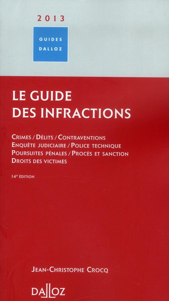 Le guide des infractions (édition 2013)
