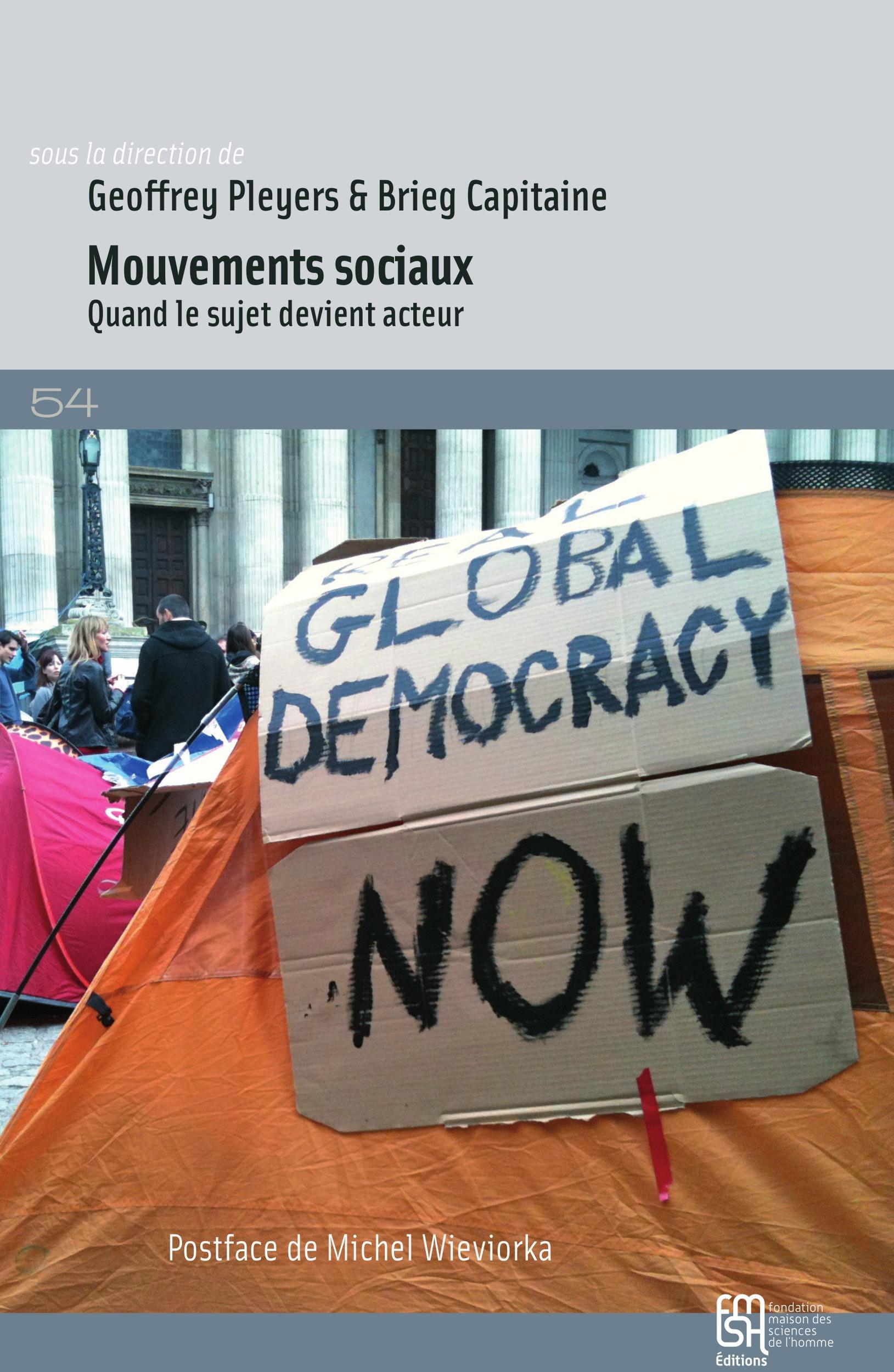 Mouvements sociaux. quand le sujet devient acteur