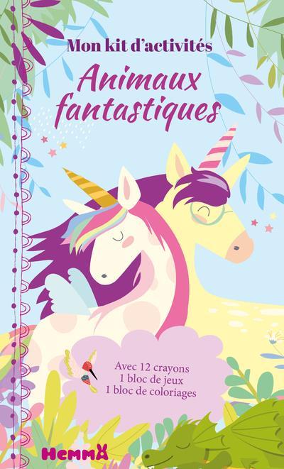 Mon kit d'activités ; animaux fantastiques ; licornes