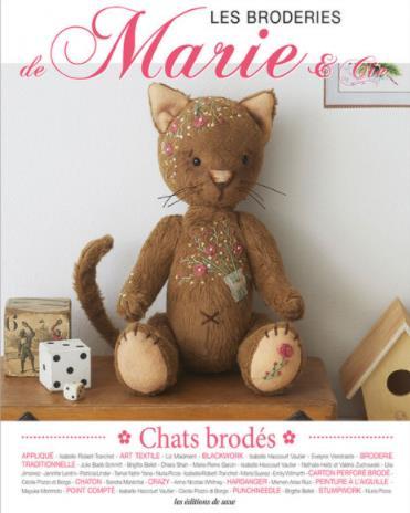 les broderies de Marie & Cie n.17 ; chats brodés
