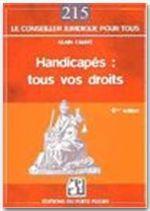 Vente Livre Numérique : Handicapés : tous vos droits  - Alain Cabrit