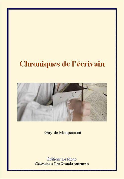 Chroniques de l'écrivain