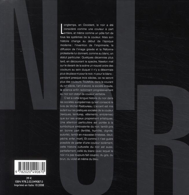 Noir, histoire d'une couleur