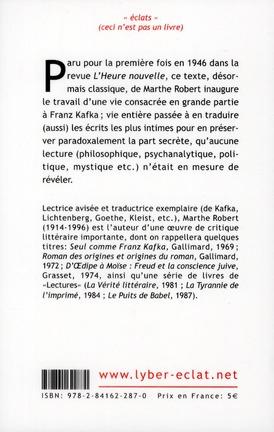 introduction à la lecture de Kafka
