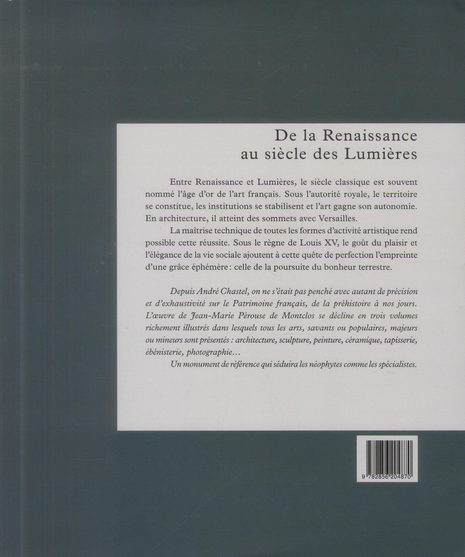 l'art de France t.2 ; de la Renaissance au siècle des lumières (1450-1770)