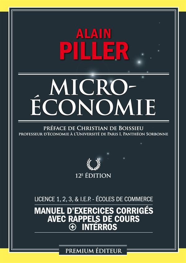 Microéconomie ; exercices corrigés et rappels de cours (12e édition)
