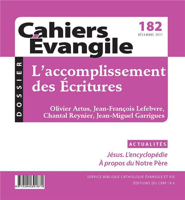 CAHIERS DE L'EVANGILE N.182  -  L'ACCOMPLISSEMENT DES ECRITURES