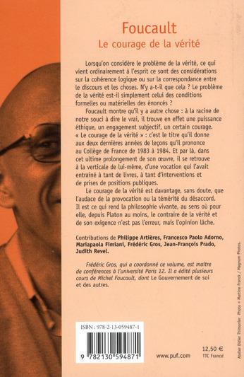 Foucault ; le courage de la vérité