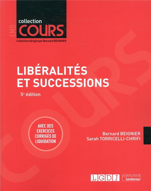 Libéralités et successions (5e édition)