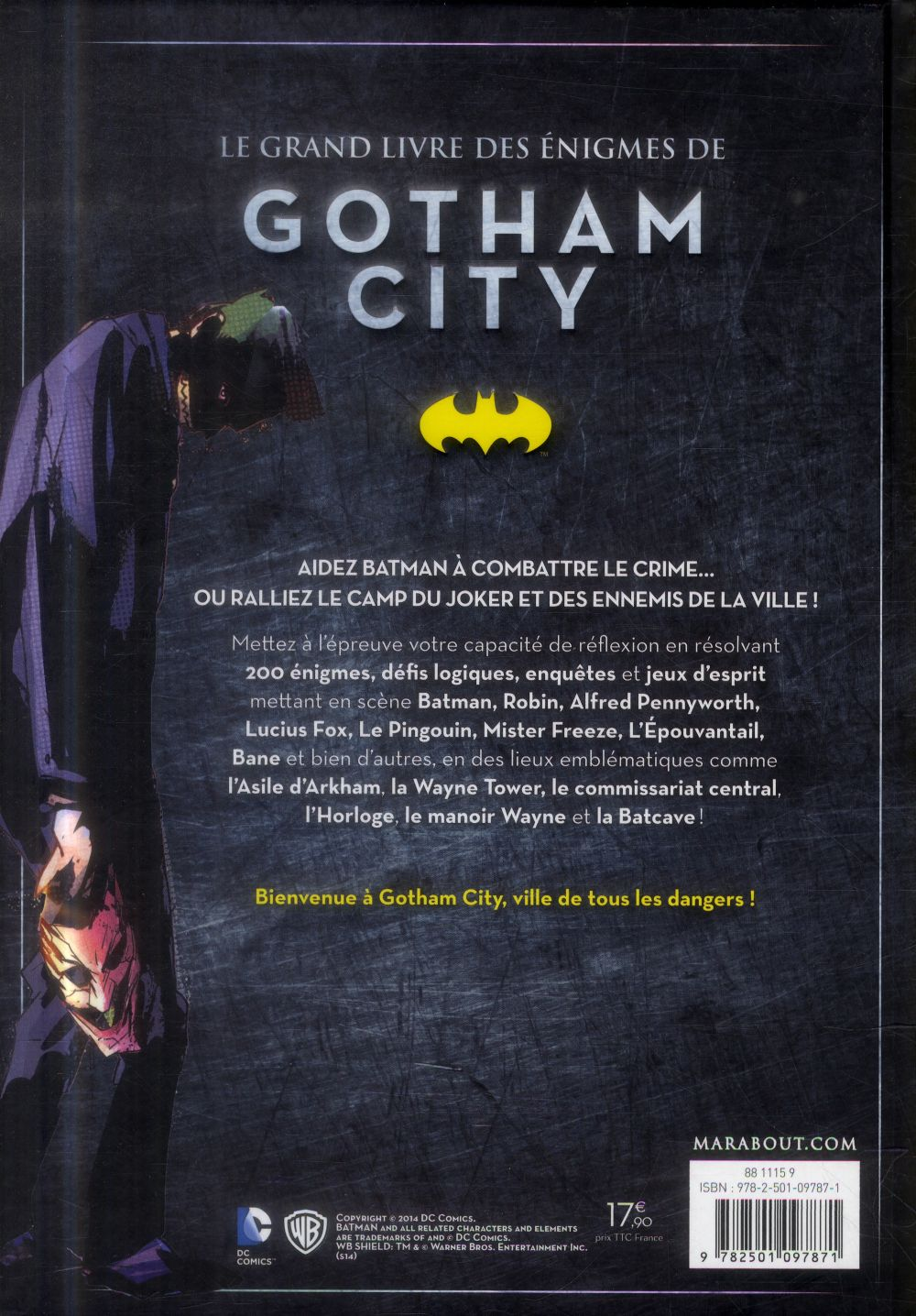 Grand livre des énigmes à Gotham City