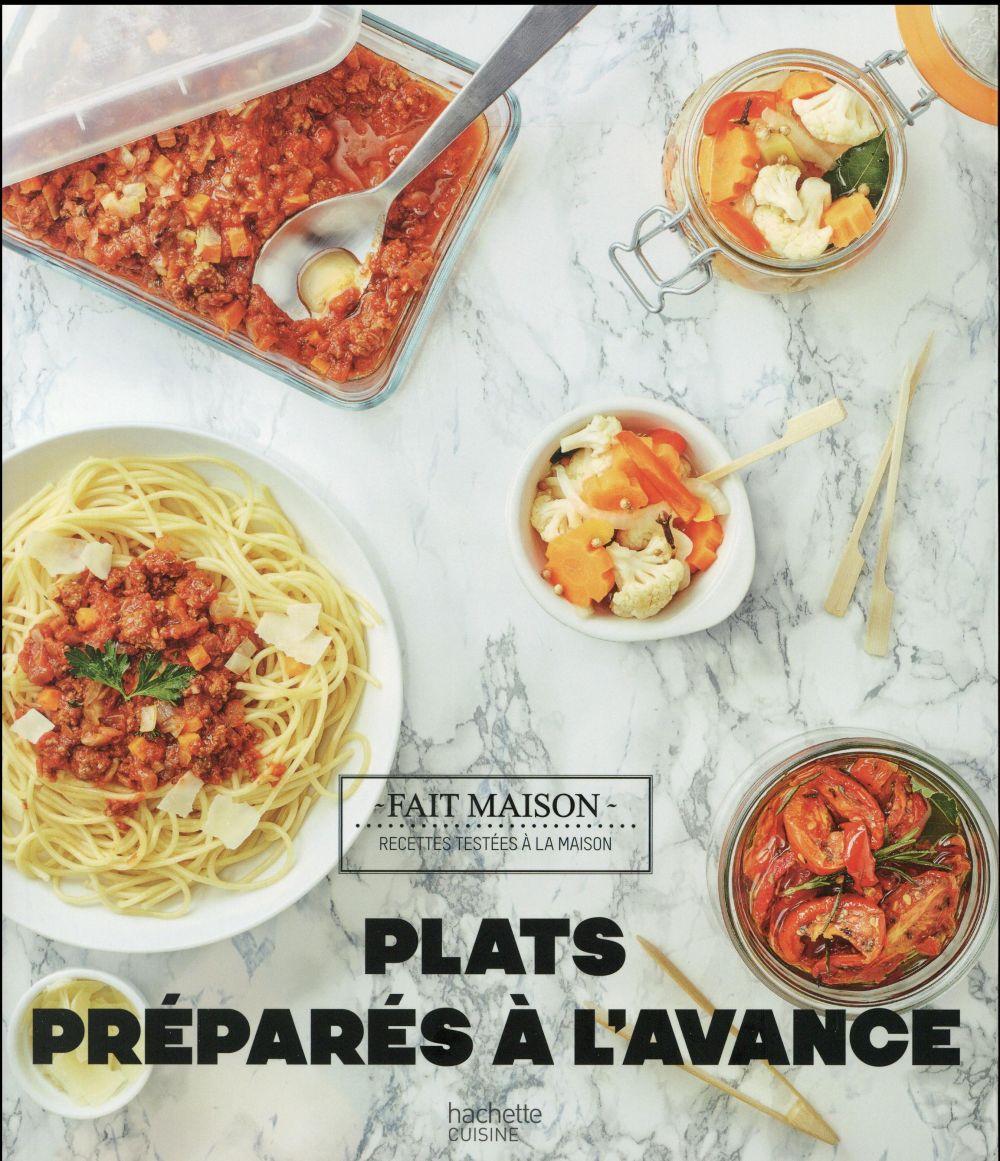 plats préparés à l'avance