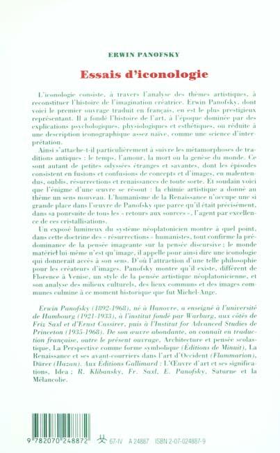 Essais d'iconologie ; thèmes humanistes dans l'art de la Renaissance