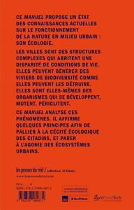 manuel d'écologie urbaine