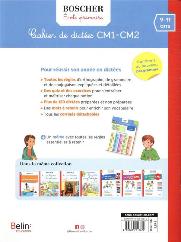 Méthode Boscher ; cahier de dictées CM1-CM2