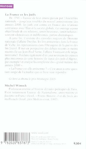 La France et les Juifs ; de 1789 à nos jours